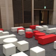 Poufs-Red-and-white