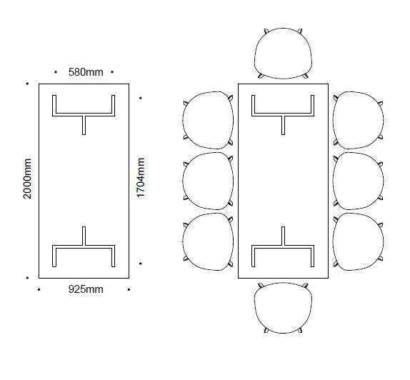 イロコデザインでレンタルできるダイニングテーブル