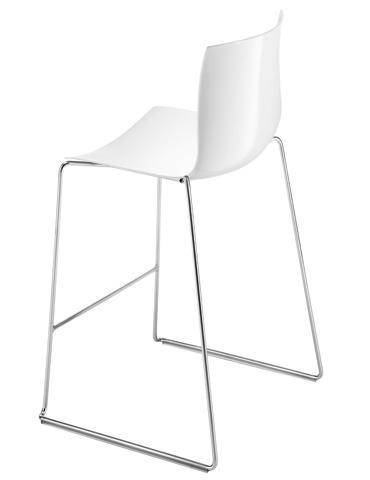 Catifa stool back white