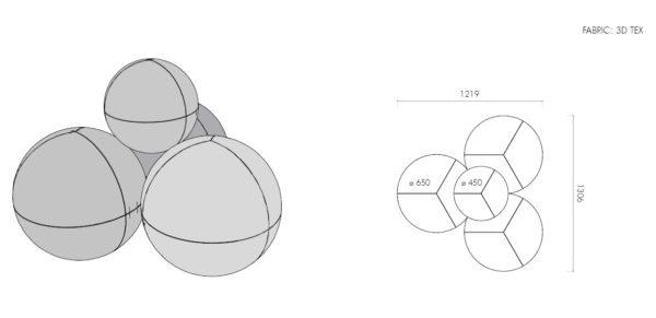 イロコデザインでレンタルできるカラフルなソファ