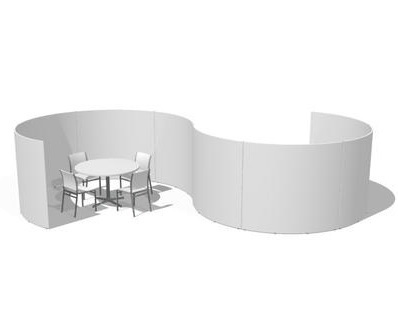 イロコデザインでレンタルできるラウンジパーテーション