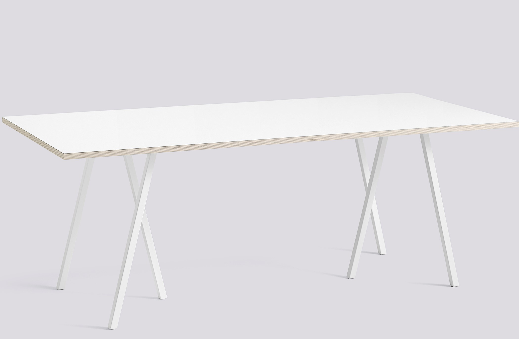Loop Stand Table L200 white